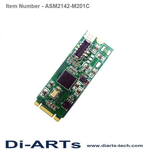 1 port Internal USB-C USB 3.1 Gen2 10G M.2 Card ASM2142-M201C