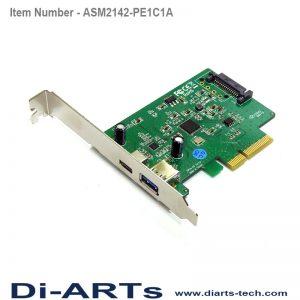 USB-C USB-A USB 3.1 Gen 2 10G PCIe Card