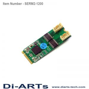 serial RS232 2 port M2 card