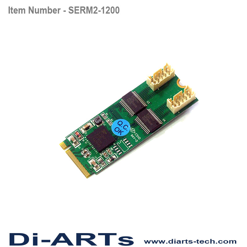 2 port High Speed RS232 M 2 NGFF card - Di-ARTs Technology