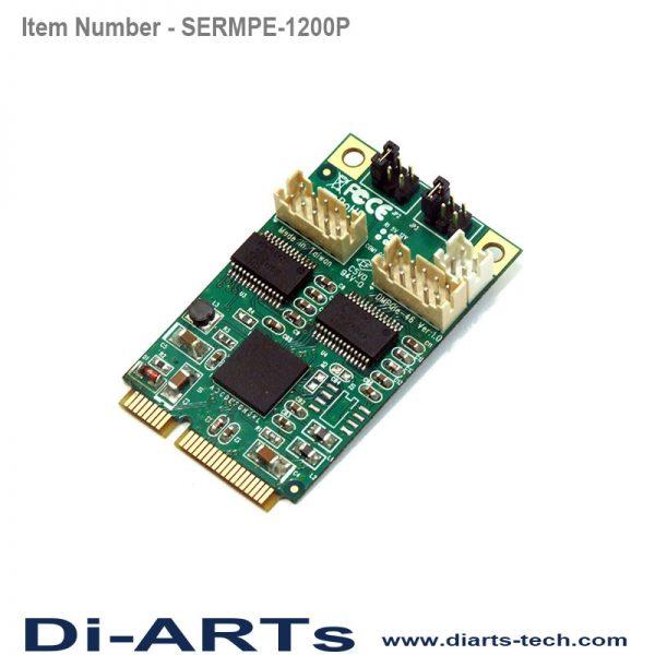mini pcie rs232 2 port com port serial card