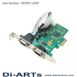 PCIe 2 port RS232 com port serial card