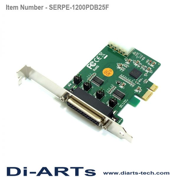 pice 2 port rs232 com port serial card