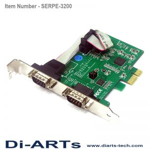 pcie RS485 RS422 RS232 2 port com port serial card