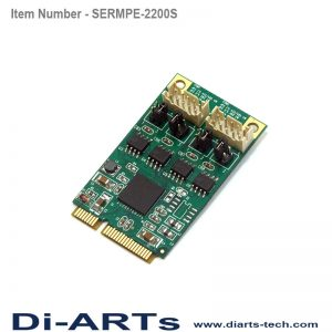 mini pcie rs485 rs422 2 port com port serial card
