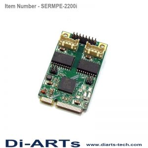 mini pcie rs485 rs422 2 port com port serial card isolation
