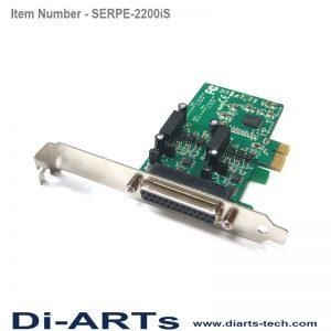 pcie 2 port RS485 RS422 com port serial card isolation