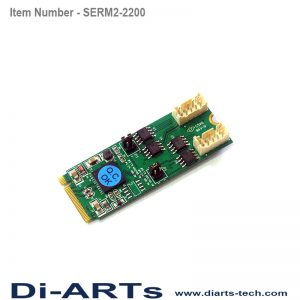 serial RS485 RS422 2 port M2 card