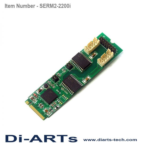 serial rs485 RS422 2 port M2 card isolation