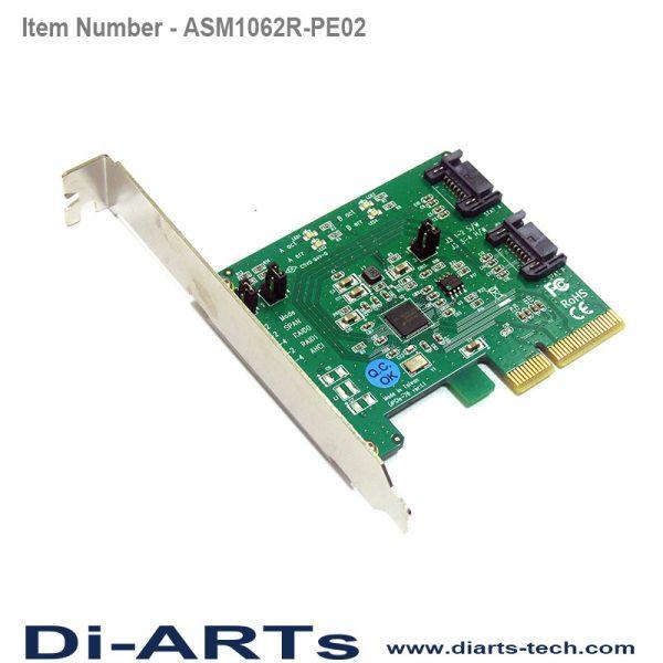 SATA III 2 port hardware raid 0 1 PCIe card