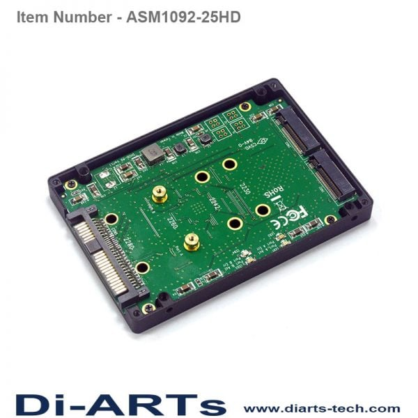 "sata 2.5"" HDD M.2 slot ASM1092-25HD"