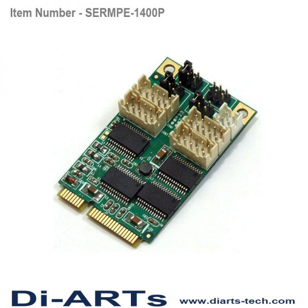 mini pcie rs232 4 port com port serial card