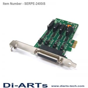 PCIe RS485 RS422 4 port Com port serial card isolation