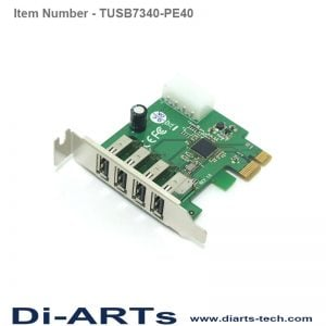 TI TUSB7340 4 port USB 3.0 PCIe Card TUSB7340-PE40