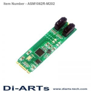 embedded 2 port SATA III M.2 card Hardware Raid 0 /1
