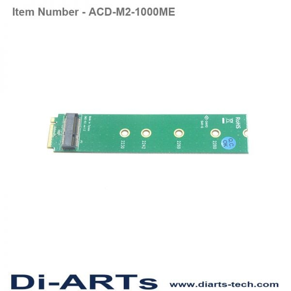 e key to m key adapter ACD-M2-1000ME