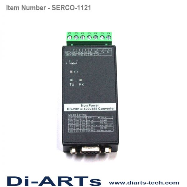 RS485 to RS232 Converter din rail wall mount