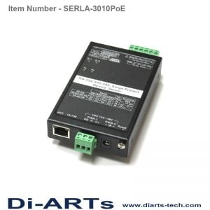 RS232 RS422 RS485 serial device server over LAN supports PoE PD function SERLA-3010PoE