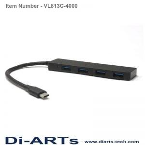 USB-C to 4 port USB HUB VL813C-4000