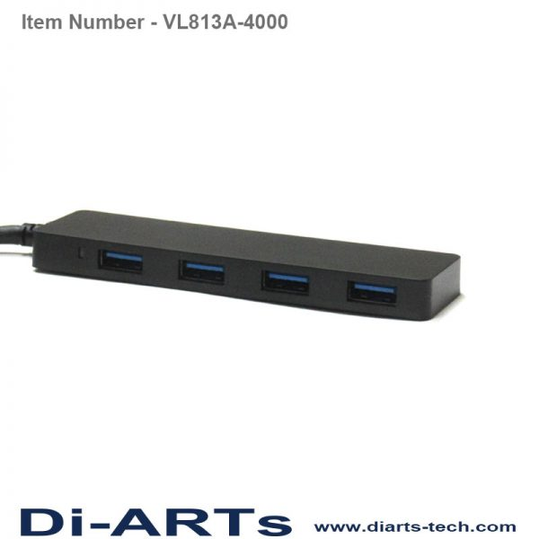 USB 3 to 4 port USB HUB with USB-A connector VL813A-4000