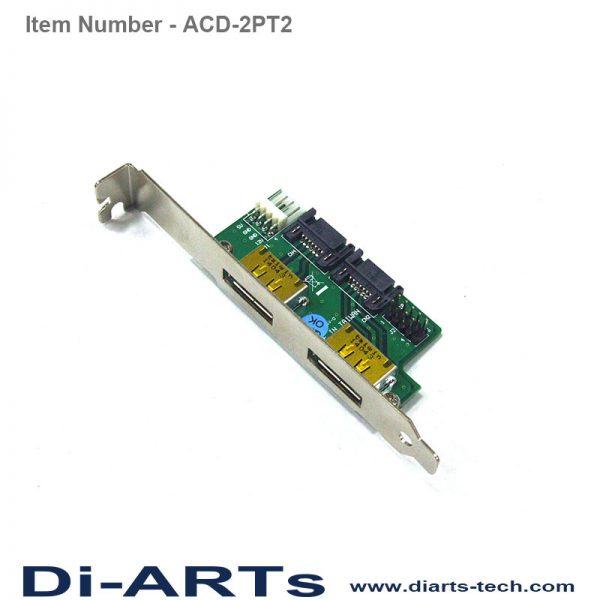 5V 12V eSATAp USB Adapter Card ACD-2PT2