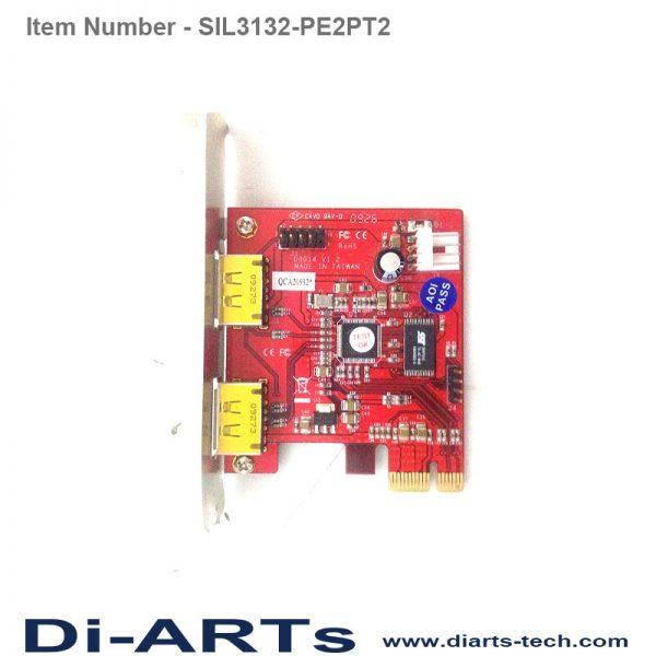 eSATAp USB 5V 12V PCIe card SIL3132-PE2PT2