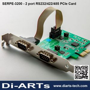 2 port RS-232 RS-422 RS-485 PCI Express Card