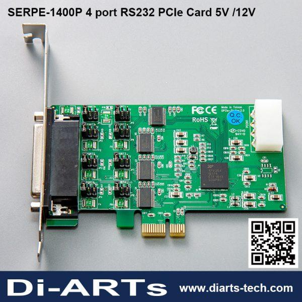 Serial RS232 PCIe Card