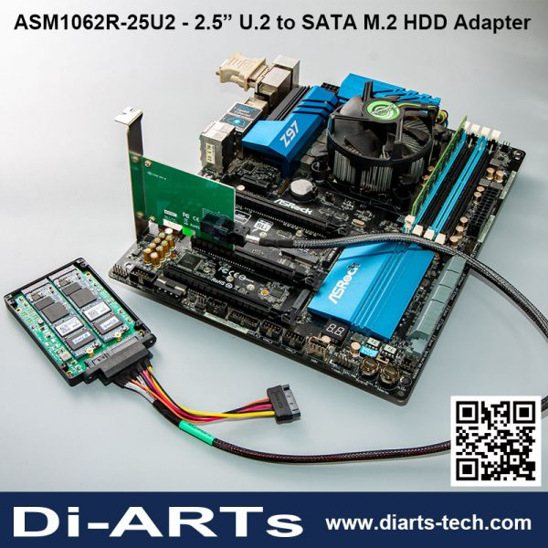 "U.2 Intel NVMe SATA SSD B M A E Key M.2 2.5"" HDD Adapter Hardware Raid 0/1 SPAN transfer rate up to 10Gbps"