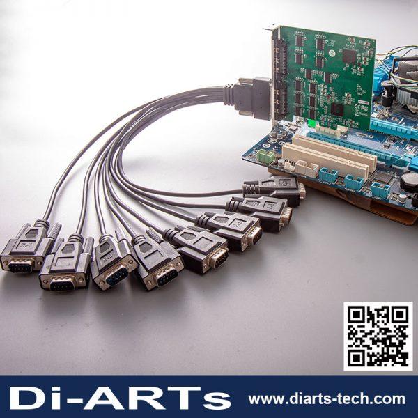 16 port RS-232 PCI Express Card