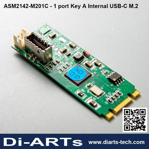 1 port Internal USB-C Key A M.2 Card