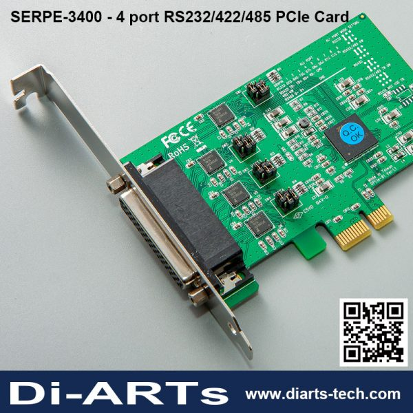 4 port RS232 RS422 RS485 card