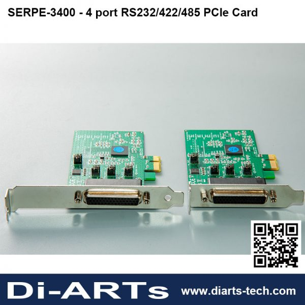 4 port RS232/422/485 PCIe card