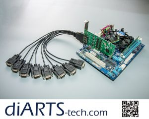 3 in 1 4 8 port PCIe card RS232 RS422 RS485