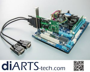 2 in 1 RS422 RS485 PCIe card
