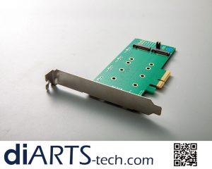 SATA SSD B Key M.2 PCIe Card RAID 0 1